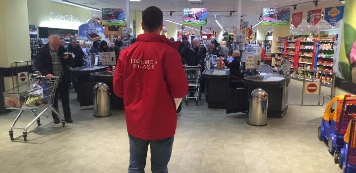 Kundenakquise im Supermarkt